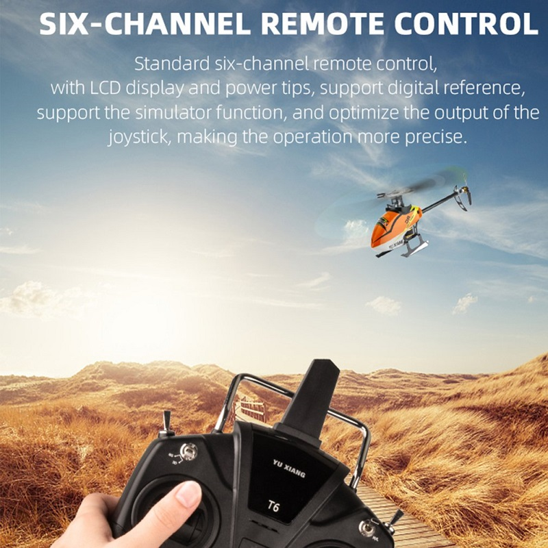 YUXIANG F180 6CH 3D6Gシステム デュアルブラシレス フライバーレスRCヘリコプターRTF