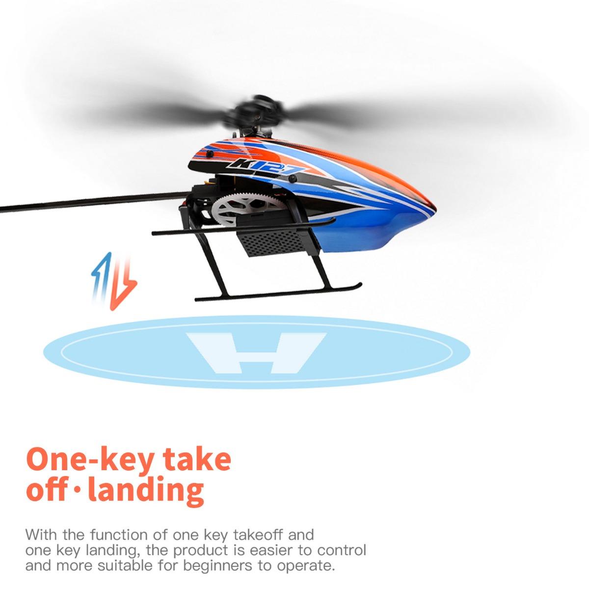 XK K127 4CH 6 軸ジャイロ シングルブレード RC ヘリコプター RTF