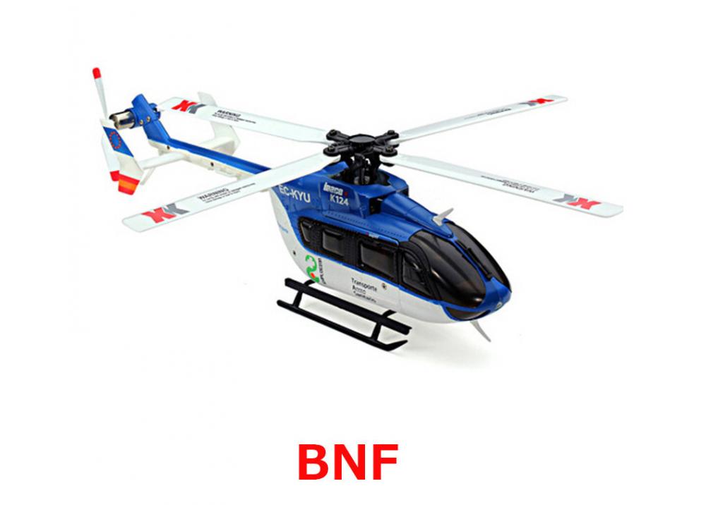 XK K124 EC145 6CH ブラシレスRC ヘリコブター BNF 送信機無し 3D6G システム FUTABA S-FHSSと互換性あり