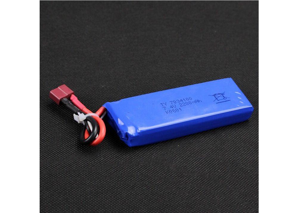 WLtoys K949 / 10428-A  10428-B RCカー 専用スペアパーツ 7.4V 2200mAh 10C バッテリー