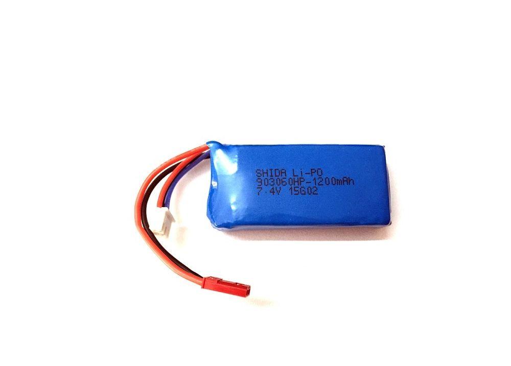 WLtoys V353 V666 V666N  V262 V333 Q212 Q212G A949-A979 / JJRC X1 H16 / MJX X101 用7.4V 1200MAHバッテリー