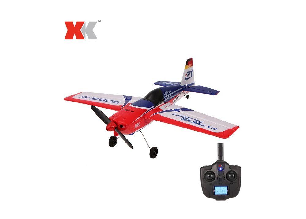 XK A430  + X4送信機 3D6G 5CH ブラシレスモーター RC 飛行機 RTF 2.4GHz FUTABA S-FHSSサポート