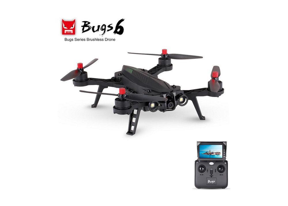 MJX B6 Bugs 6 FPV RC クアッドコプター RTF 2.4GHz ブラシレスモーター 搭載(720Pカメラ・モニター付く)