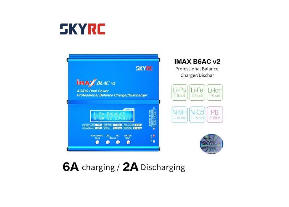 SKYRC iMAX B6AC V2 6Aリポバッテリーチャージャー プロフェッショナルバランス充電器/  2A放電器