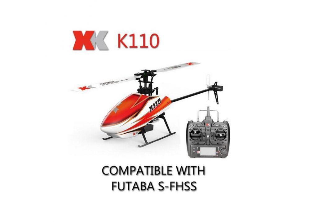 XK K110 BLAST ブラシレス 6CH RCヘリコプター 3D 6Gモード切替可能 2.4GHz FUTABA S-FHSSと互換性あり  RTF