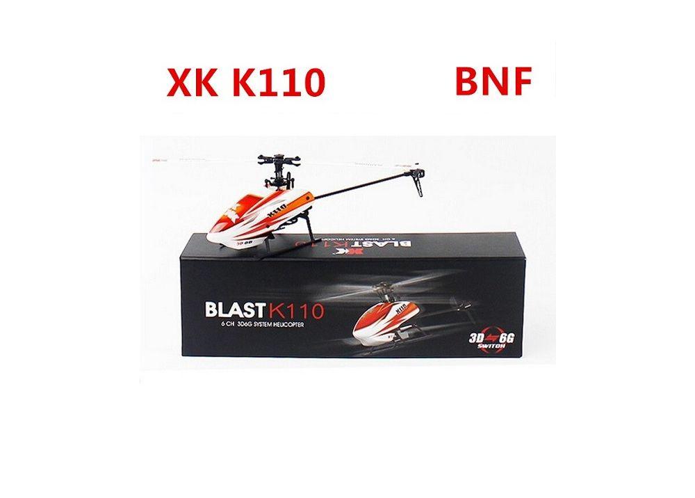 XK K110 BLAST 6CH ブラシレス 3D 6Gシステム RCヘリコプター BNF 送信機無し