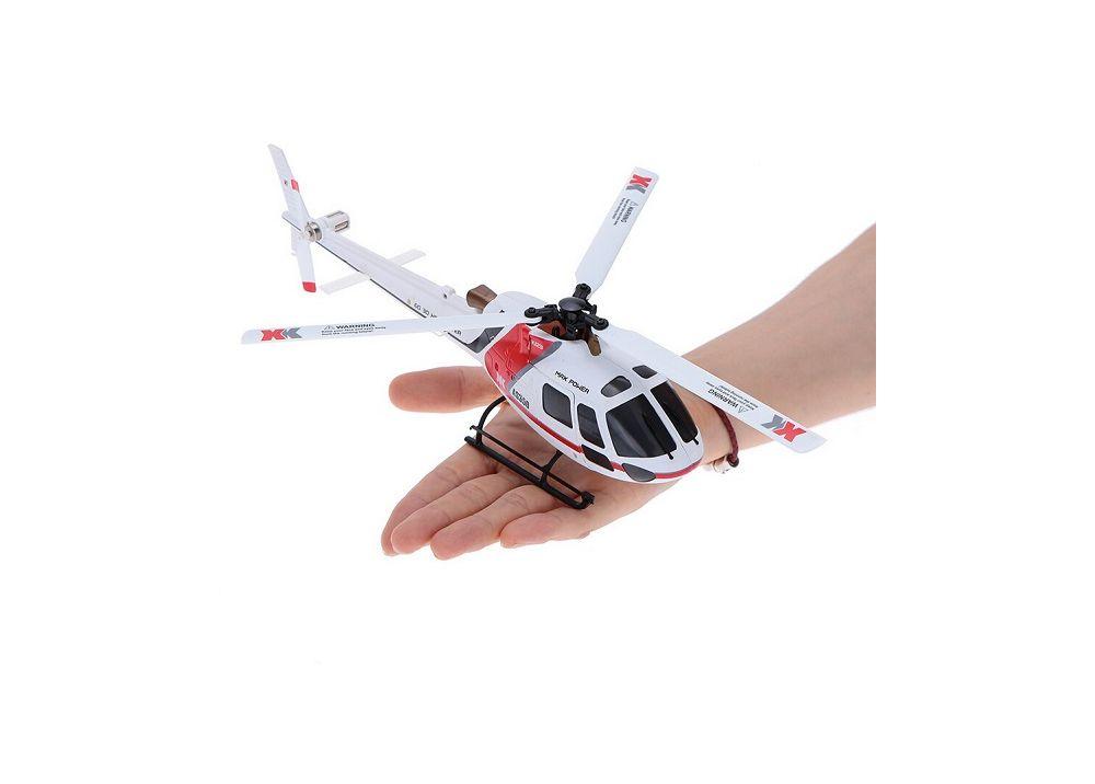 XK AS350 K123 BNF 送信機無し 6CH ブラシレス 3D6G システム RC ヘリコブター