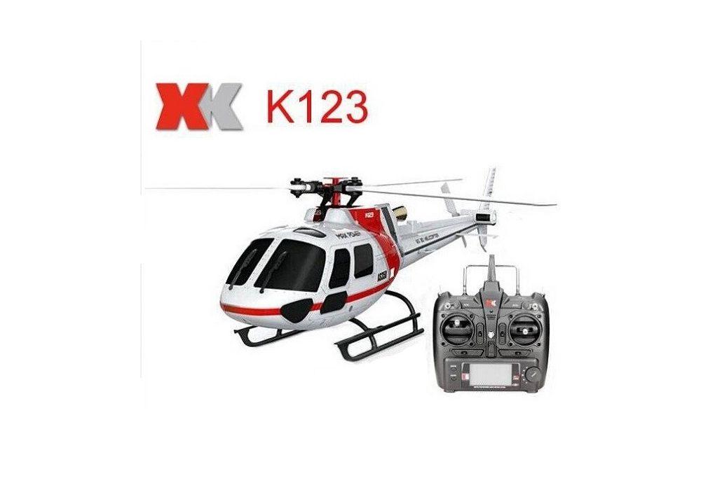 XK K123 AS350 6CH ブラシレス 3D6G システム RC ヘリコブター RTF 2.4GHz