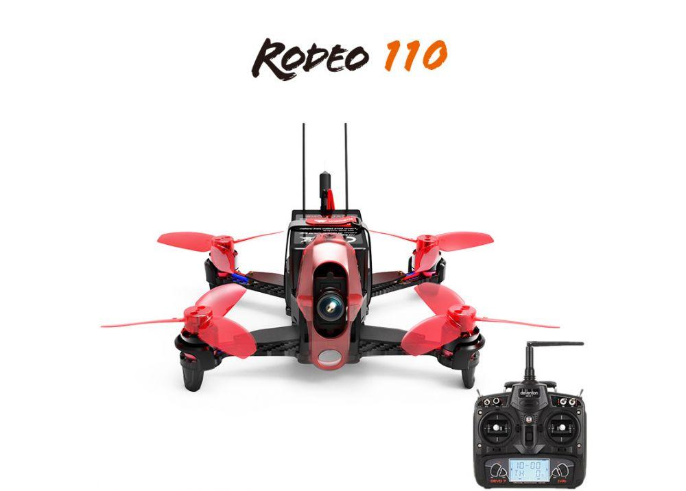 Walkera Rodeo 110 + DEVO 7 フルセット RC レーシング クアッドコプター RTF ( 600TVL カメラ/バッテリー/充電器含み)