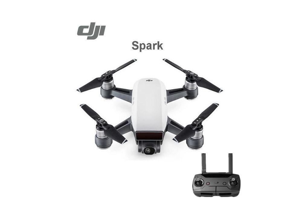 DJI Spark 高性能ミニドローン HDカメラ搭載 リアルタイム動画伝送 RTF 送信機付く(バッテリー2個)