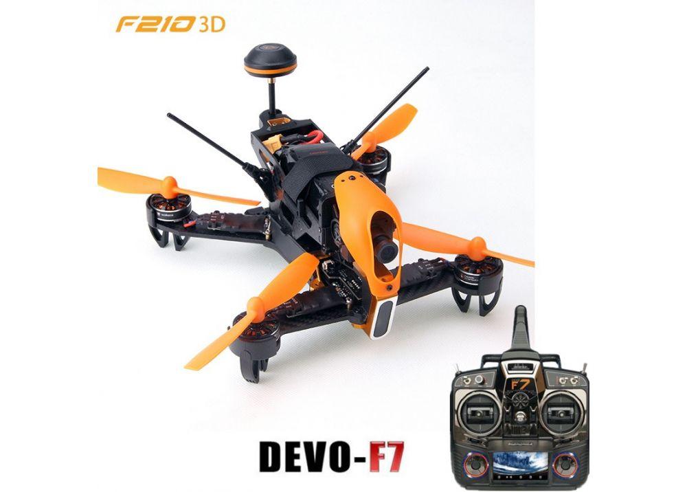 【特価】Walkera F210 3D + DEVO F7 送信機フルセット FPV RC クアッドコプター RTF  ( 700TVL SONY カメラ/OSD/ バッテリー/充電器含み)