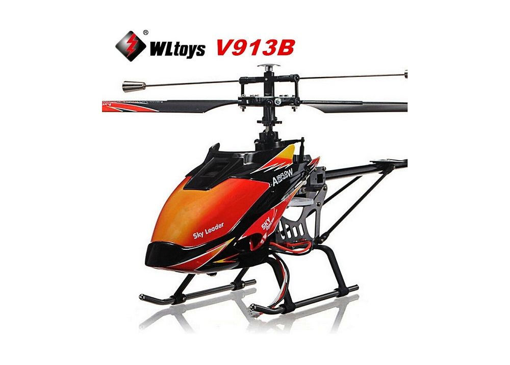 WLtoys V913 V913B ブラシレス バージョン 4CH 大型RCヘリコプター 2.4GHz