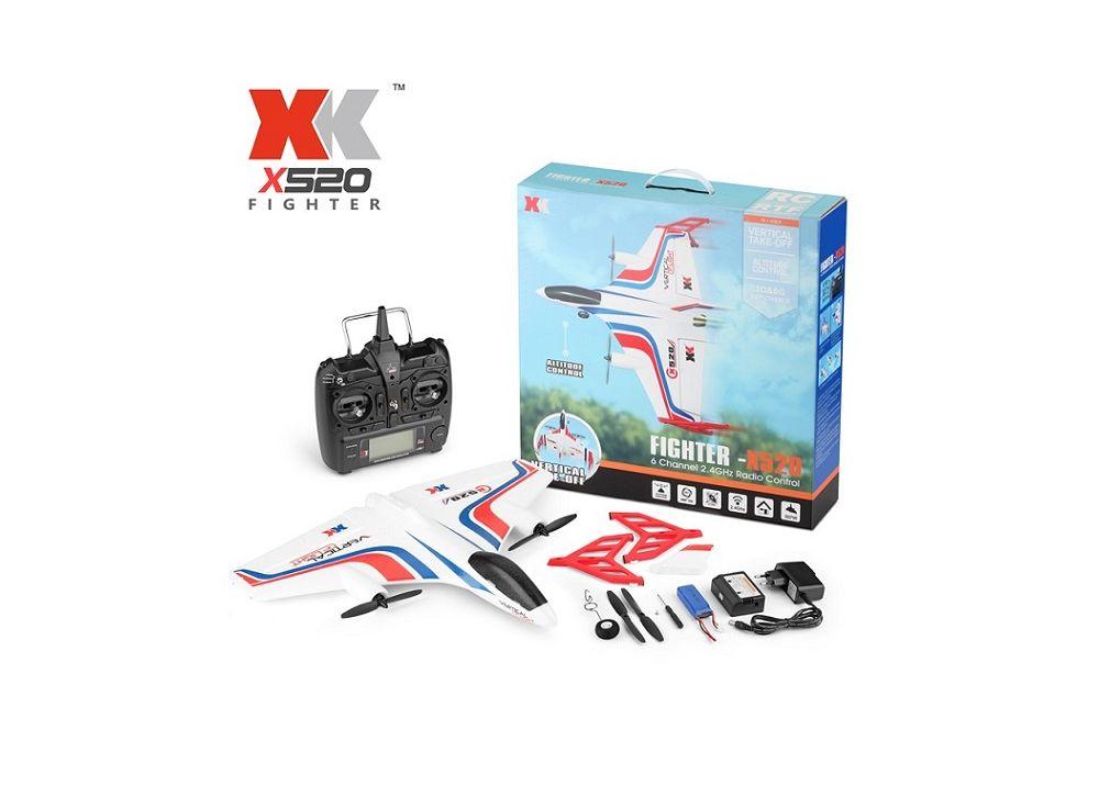 XK X520 + X8送信機 3D6G 6CH EPP RC飛行機 520mm RTF 2.4GHz 垂直離陸