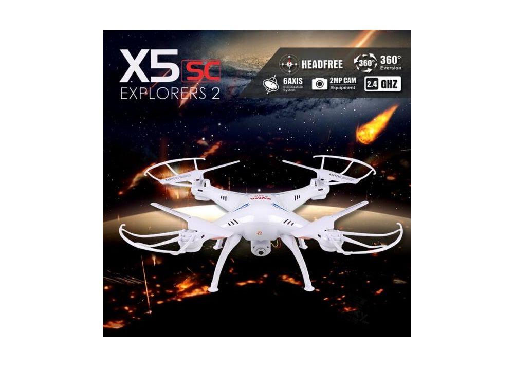 Syma X5SC 4CH 6軸 ヘッドレスモード クアッドコプター 2MP カメラ搭載 2.4GHz