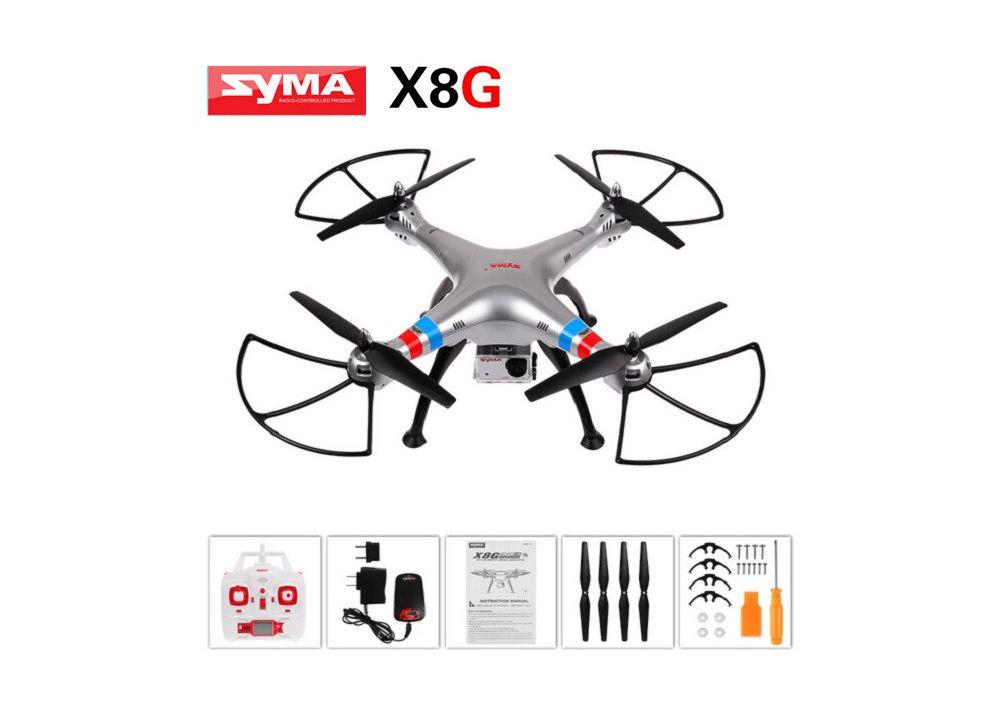 Syma X8G 8MP HD カメラ搭載 ヘッドレスモード RC クアッドコブター RTF 2.4GHz 6軸 ジャイロ付