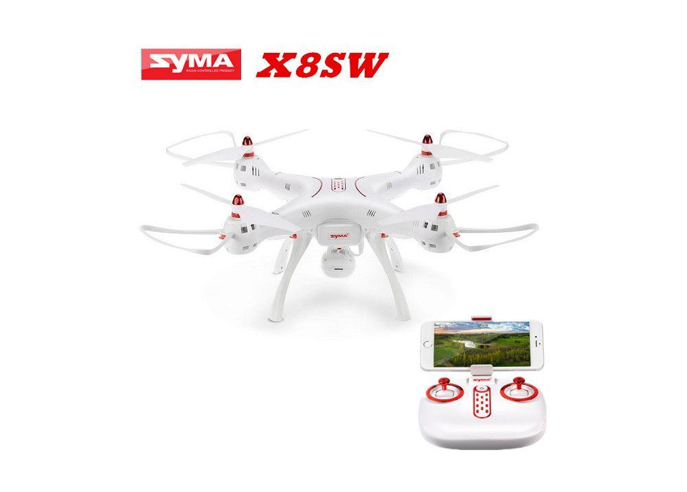 Syma X8SW WIFI FPV RC クアッドコブター 720Pカメラ搭載 RTF 2.4GHz バロメーター高さ保持 / ヘッドレスモード