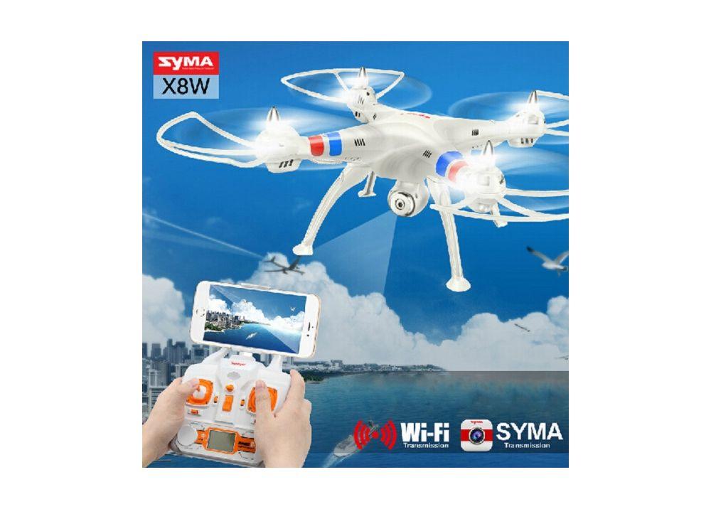 Syma X8W Explorers WIFI FPV ヘッドレスモード RC クアッドコブター (カメラ付) RTF 2.4GHz