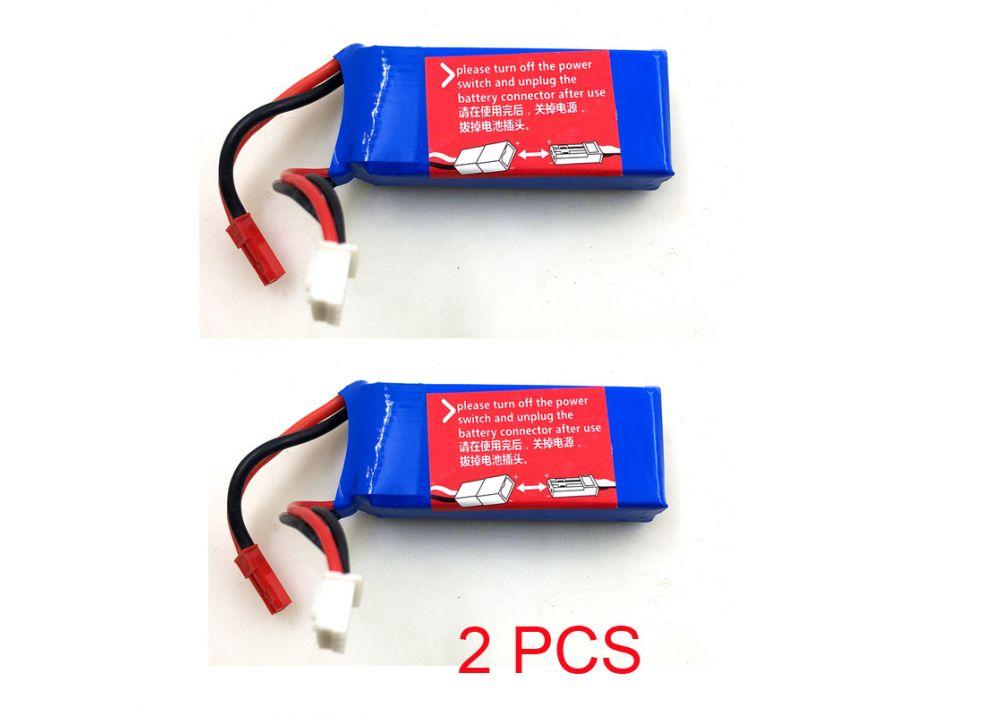 2個/セット XK X520 RC飛行機用スペアパーツ 7.4V 950MAH 25Cバッテリー