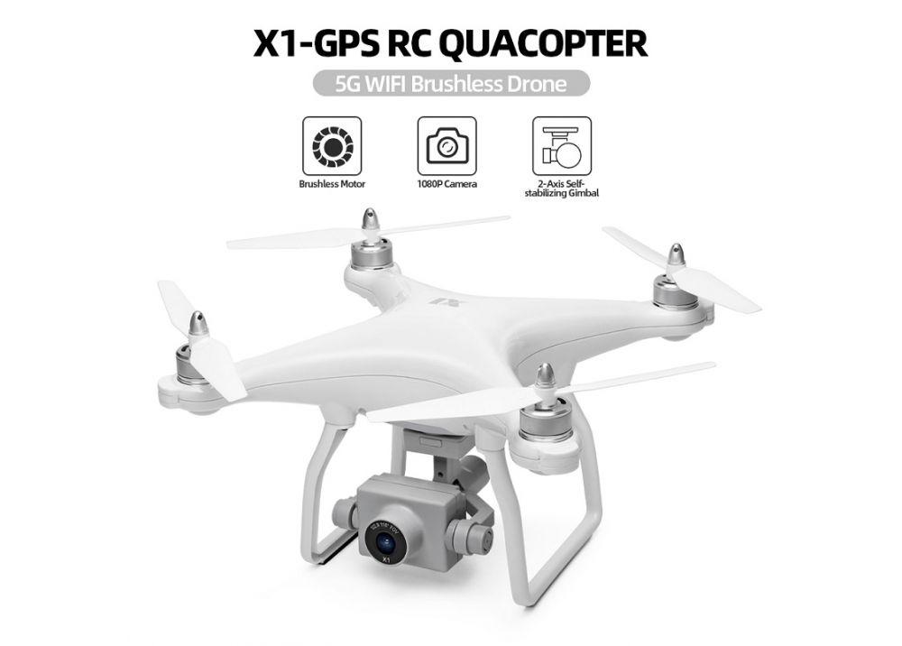 XK X1 5G WIFI FPV GPSドローン 1080P HDカメラ/ 2軸コアレスジンバル付き 高度保持モード RTF