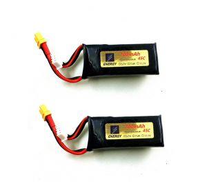 2個 YU XIANG F180 / Eachine E180 RCヘリコプター用スペアパーツ11.1V700mAh 45C Li-poバッテリー