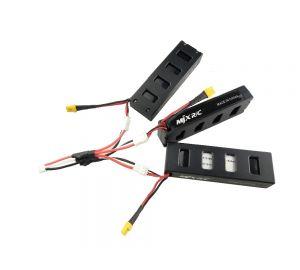 MJX B3 Bugs 3 専用スペアパーツ .74V 1800mah 25C バッテリー 3PCS+充電ケーブル