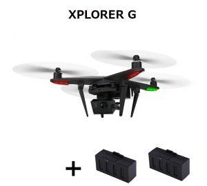 (バッテリー2個含み) Zero XIRO XPLORER G Xplorer Pro FPV RCクアッドコブター GoPro 3 4用3軸ジンバル付 RTF 5.8GHz