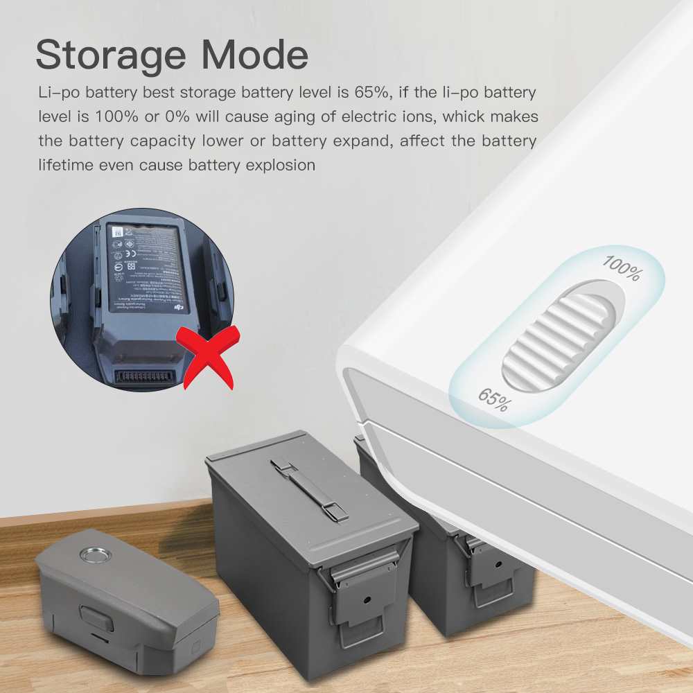 DJI Mavic 2 Pro/Zoomドローン用アップグレードパーツ バッテリー&リモコン用マルチ充電器ハブ 6つポート