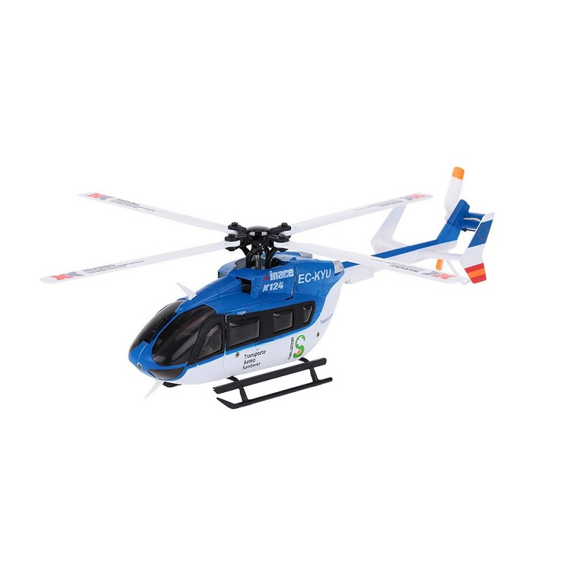 XK K124 EC145 6CH ブラシレス 3D6G システム RC ヘリコブター RTF 2.4GHz